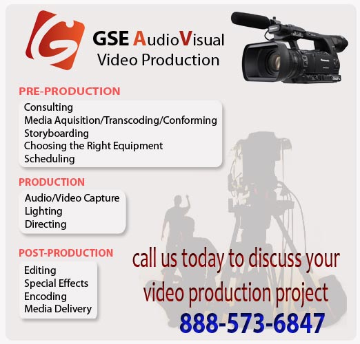 GSE AV Video Production - Orlando, Atlanta, New Orleans