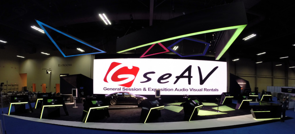 Ultra widescreen LED video wall set up by GSEAV.
