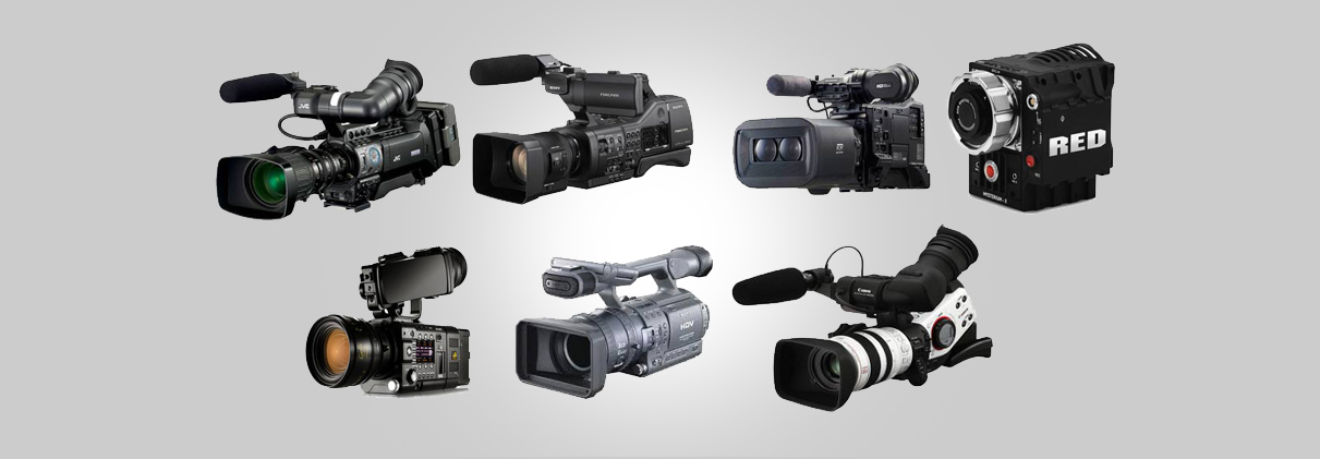 Video cameras for rental